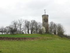 Turm der Wallburg oberhalb von Eltmann