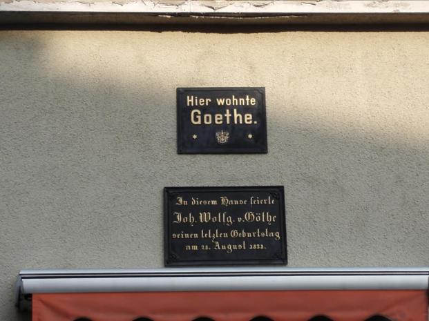 In diesem Gebäude feierte Goethe seinen letzten Geburtstag
