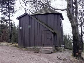 Schutzhütte in der Goethe sein Gedicht an die Wand schrieb