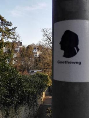 Abstieg über den Goethe-Weg zur Altstadt