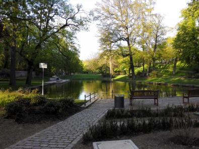 Sichtachse des Parks an der Orangerie