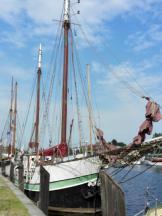 Schiffe im Museumshafen am Ryck