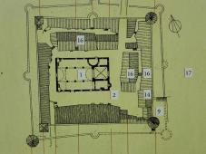 Grundriss der Kirchenburg