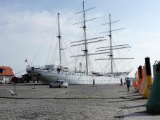 Die Gorch Fock I im Hafen von Stralsund