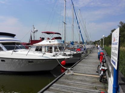 Der Hafen von Zingst am Bodden