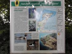 Infotafel zum Naturschutzgebiet Holnis