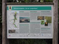 Infotafel zum Tal der Langballigau, einem der schönsten Bachtäler in Schleswig-Holstein