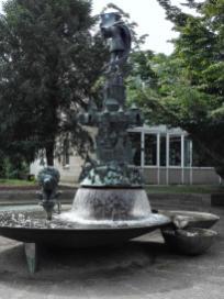 Prächtiger Brunnen am Platz des Westfälischen Friedens