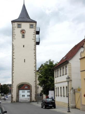 Der Obere Turm von Haßfurt ...