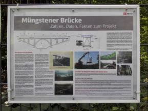 Infotafel zur Müngstener Brücke