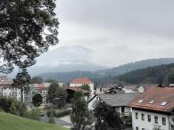 Blick über Bayerisch Eisenstein zum Großen Arber