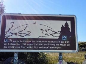 Der Brocken lag bis 1989 auf dem Staatsgebiet der DDR