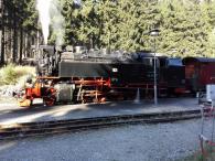 Unsere Lok im Bahnhof von Schierke