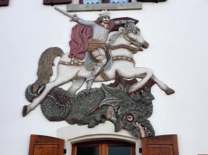 Wandmalerei an einer Hausfassade
