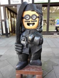 Ritterfigur in der Innenstadt
