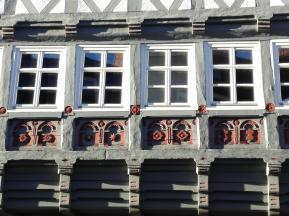 Detail an einem Fachwerkhaus