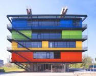 Gebäude des Schülerlabors XLAB auf dem Nordcampus der Universität (Foto: m.ferber   http://commons.wikimedia.org   Lizenz: CC BY-SA 3.0 DE)