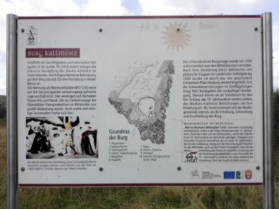 Infotafel an der Burg Kallmünz