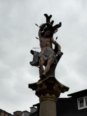 Sankt Sebastianus-Skulptur