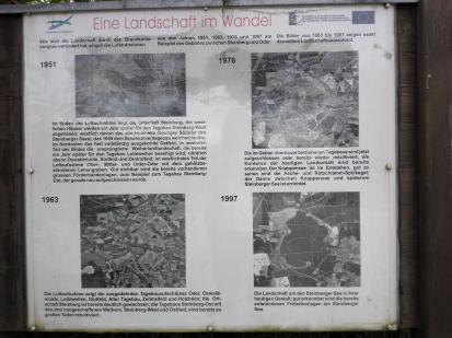Entwicklung der Landschaft vom Braunkohletagebau zum Seengebiet