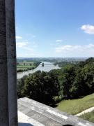 Blick von der Walhalla stromaufwärts Richtung Regensburg