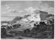 Historische Darstellung der Walhalla