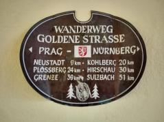 Die historische Goldene Straße von Nürnberg nach Prag führt durch Weiden