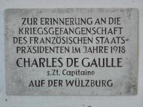 Im ersten Weltkrieg waren hier französische Kriegsgefangene interniert. Auch der junge Charles de Gaulle.