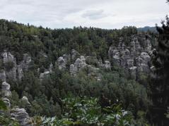 Markante Felsformationen des Elbsandsteingebirges