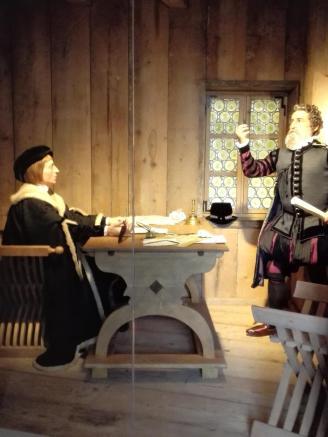 In der Schreibstube des Festungskommandanten
