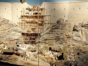 Diorama zur Entstehung der Anlage
