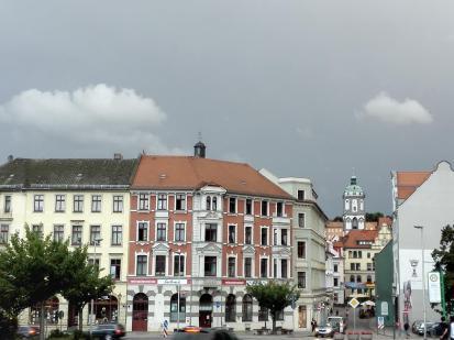 Blick in die Altstadt von der Elbbrücke