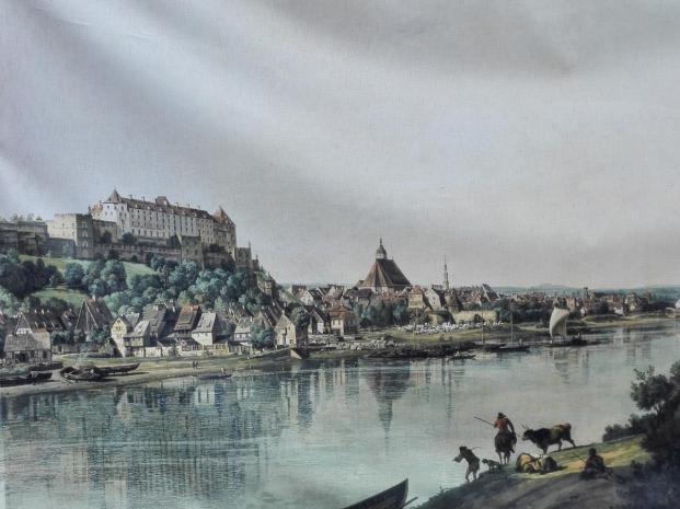 Historische Darstellung von Pirna