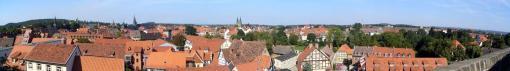 Panorama von Quedlinburg, gesehen vom Schlossberg (Foto: Thomas Wozniak   http://commons.wikimedia.org   Lizenz: CC BY-SA 3.0 DE)