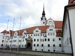 Schloss Hartenfels von der Stadtseite gesehen