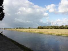Blick von unserem Stellplatz auf die Elbe
