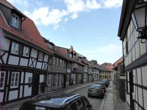 Fachwerkgasse am Rande der Altstadt