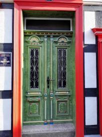 Schönes Portal an einem Fachwerkhaus