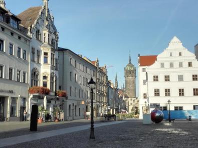 Blick vom Marktplatz zur Schlosskirche