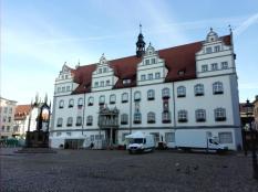 Frontseite des Alten Rathaus am Marktplatz