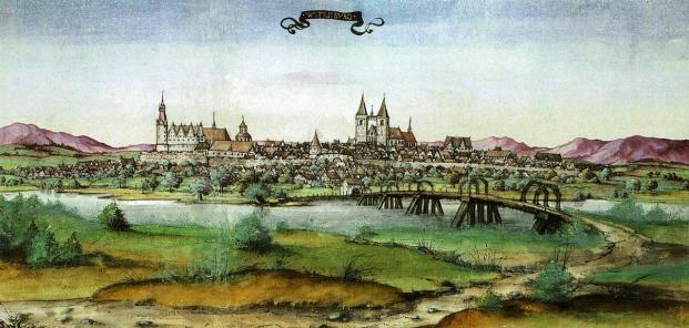 Mittelalterliches Bild der Stadt