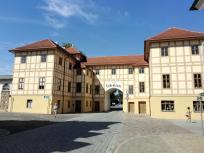 Festungsbau im Ortseingang von Wörlitz