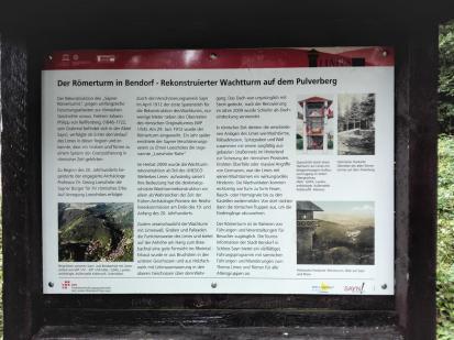 Infotafel am Römer-Wachtturm