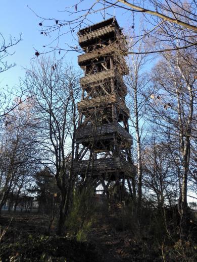 Der Aussichtsturm in Wolfgarten