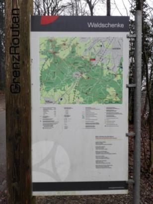 Unser Startpunkt: Die Waldschenke am Rande des Aachener Waldes