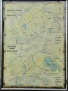 Übersichtskarte des Tagebaus mit der zukünftigen durch Flutung entstehenden Seenfläche