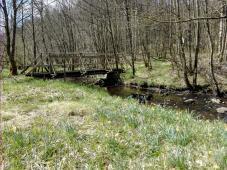 Die Johnny-Brücke. Hier wurde nach dem Krieg ein Schmuggler von Deutschen Zöllnern erschossen.