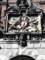 Verzierung über dem Portal der alten Hafenmeisterei