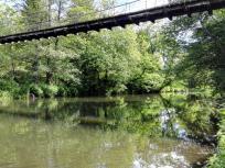 Hängebrücke über die Agger