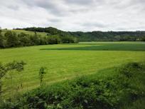 Weite Flächen im Jagsttal werden landwirtschaftlich genutzt